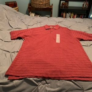 IZOD Men's NWT Red SS Polo Shirt. Size Large
